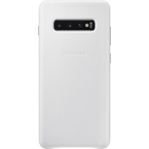 Samsung Leather Cover Galaxy S10+ Weiß