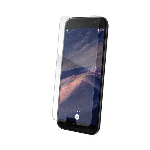 STRAX Glass Case-Fit für Galaxy A7 (2017) clear