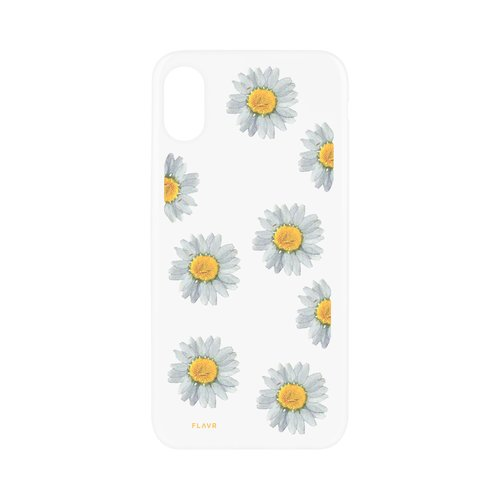 STRAX iPlate Real Flower Daisy iPhone X iPhone XS Mehrfarbig