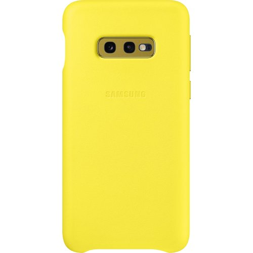 Samsung Leather Cover Galaxy S10 E Gelb